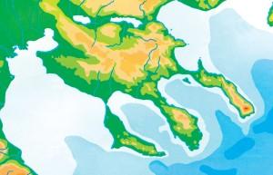 Халкидики карта